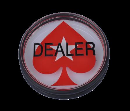 Dealer Button mit Pokerstars Logo