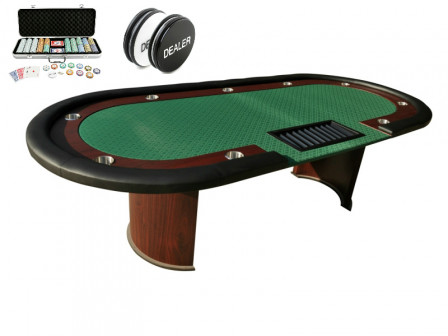 Pokertisch mit Pokerset und 500 Pokerchips
