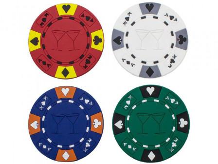 Untersetzer in Form eines Pokerchips