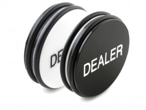 Dealer Button aus hochwertigem Acryl