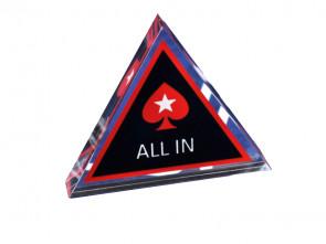 Dreieckiger Dealer Button mit Pokerstars Logo