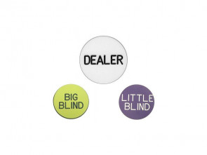 Dealer Button 3er Set