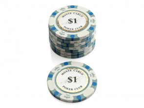 Monte Carlo Poker Club Pokerchip $ 1