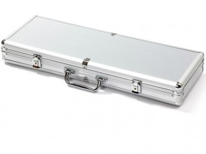 Luxoriöser Pokerkoffer für 500 Pokerchips aus Aluminium