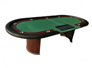 Cashgame Pokertisch Combo Grün met Chiptray